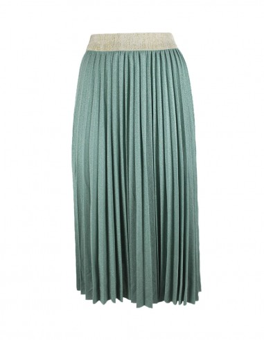 Midi skirt in lurex plissè