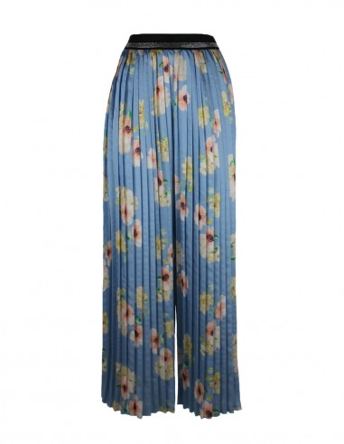 Floral pleated trousers